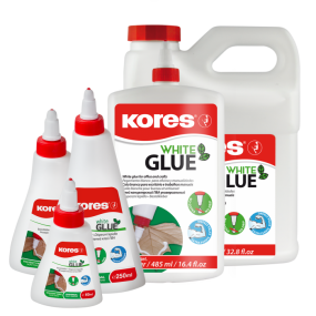 White glue, rychlouzávěr Kores