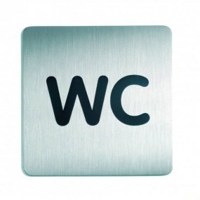 "Piktogram čtverec ""WC"" 150x150mm"