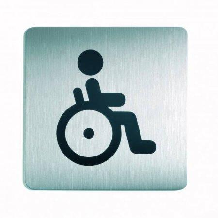 Piktogram čtverec WC vozíčkáři 150x150mm