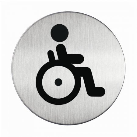 Piktogram WC vozíčkáři - kruh 83mm