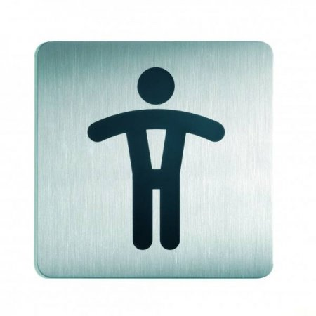 Piktogram čtverec WC páni 150x150mm