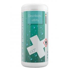 Dezinfekční utěrky v uzavíratelné dóze SEPTOCLENIUM - 100 ks