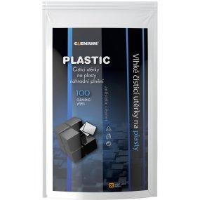Vlhké utěrky na plasty, balení 100 ks - náhradní náplň