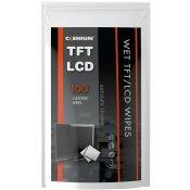 Vlhké utěrky na obrazovky TFT/LCD/TV, balení 100 ks - náhradní náplň