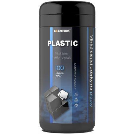 Vlhké čisticí utěrky na plasty v dóze, balení 100 ks