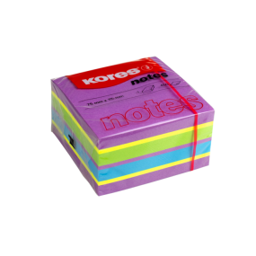 Neonové bločky CUBO Spring 450 lístků 75x75mm, mix barev ( purpurová,žlutá,modrá,zelená )