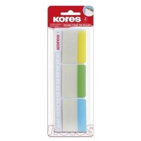 Popisovací rozřaďovač na pravítku 50x37 mm / 3 barvy / 10 lístků á barva