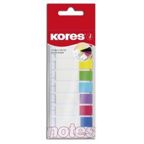 Popisovací záložky Index Strips na pravítku 45x12 mm / 8 barev / 15 lístků á barva