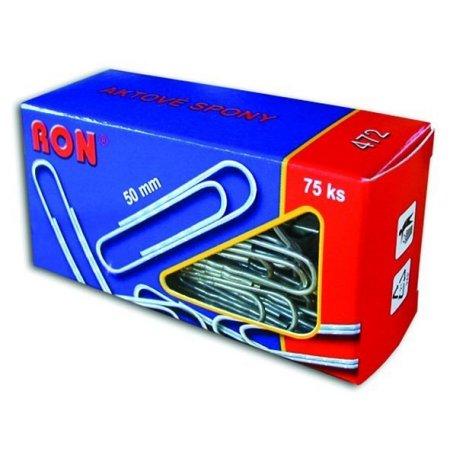 Dopisní sponky 472 Zn 50mm RON 75ks