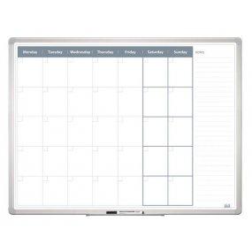 Měsíční plánovací tabule 120x90 2x3 Al rám