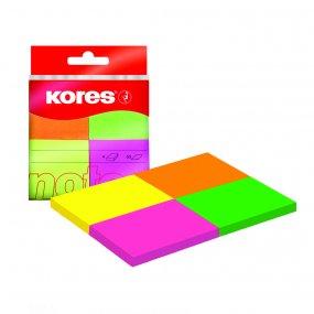 Neonové bločky Multicolour ve 4 barvách 40x50mm 200 ls v bločku