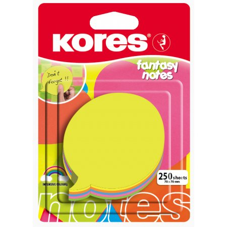 """Neonové bločky 70x70mm """"DIALOGUE"""" tvar bubliny / 250 lístků v bločku, mix 5 barev"""