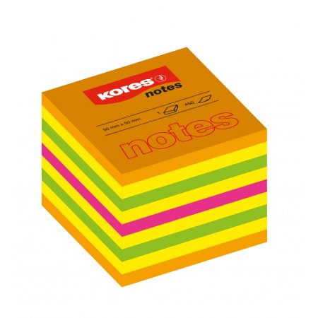 Neonové bločky CUBO Summer 400 lístků , mix barev