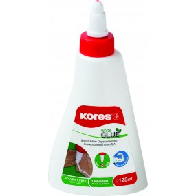 Lepidlo Kores White glue 125ml, rychlouzávěr