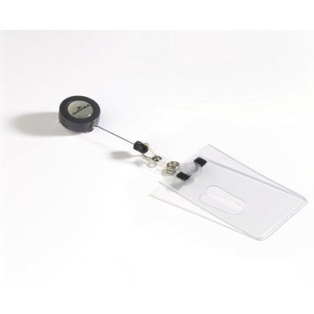 Pouzdro DURABLE na magnetické karty s odvíječem, balení 10ks