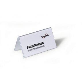 Jmenovka na stůl DURABLE 52/104x100mm, balení 25ks