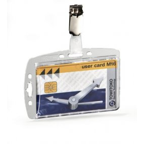 Pouzdro na magnetické karty DURABLE 85x54mm s klipem, balení 25ks