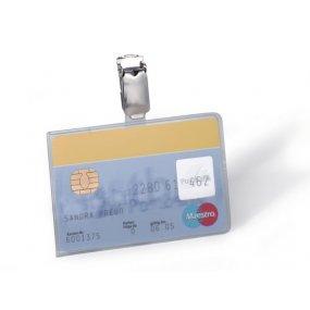 Pouzdro DURABLE na magnetické karty 90x54mm s klipem, balení 25ks