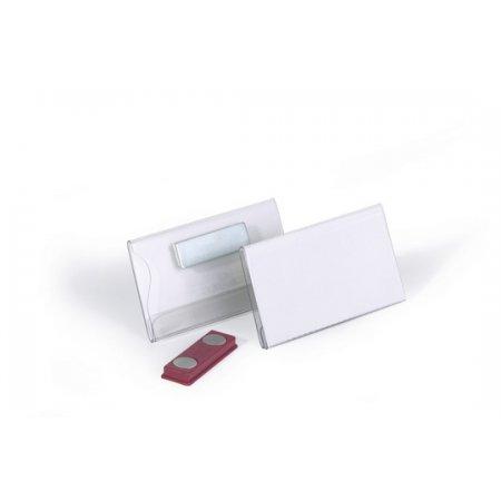 Jmenovka DURABLE s magnetem, 75x40mm, akryl, balení 25ks