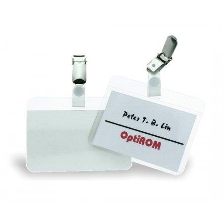 Jmenovka DURABLE laminovací s klipem, 90x54mm, transparentní, balení 25ks