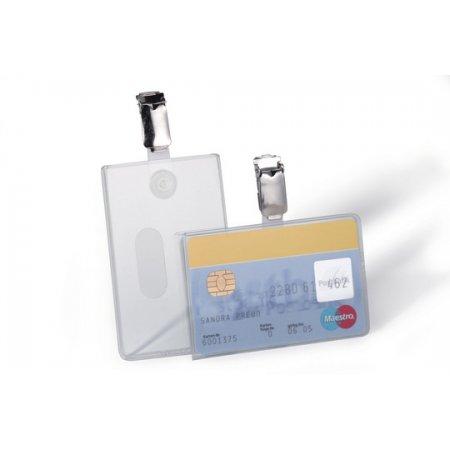 Pouzdro DURABLE s klipem na magnetické karty, balení 25ks
