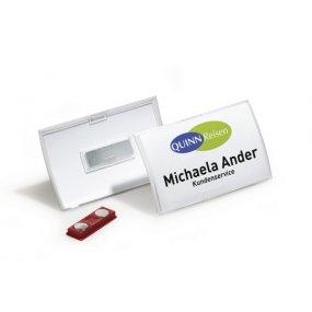 Jmenovka DURABLE Click-Fold s magnetem, 75x40mm, balení 10ks