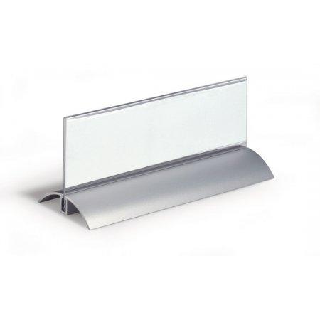 Jmenovka na stůl DURABLE Desk Presenter de Luxe 61x210mm, balení 2ks