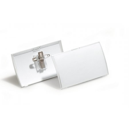 Jmenovka DURABLE Click-Fold s kombiklipem, 75x40mm, balení 25ks