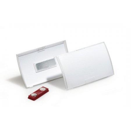 Jmenovka DURABLE Click-Fold s magnetem, 90x54mm, balení 10ks