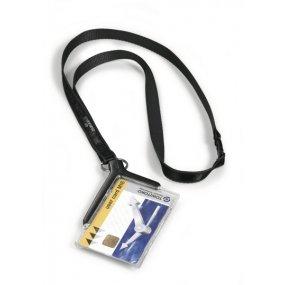 Pouzdro DURABLE DE LUXE na magnetické karty, antracit, balení 10ks