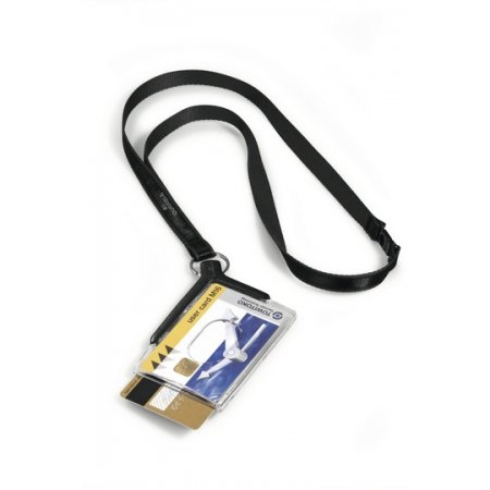 Pouzdro DURABLE DE LUXE DUO na magnetické karty, antracit, balení 10ks