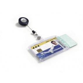 Pouzdro DURABLE na dvě magnetické karty s odvíječem, balení 10ks