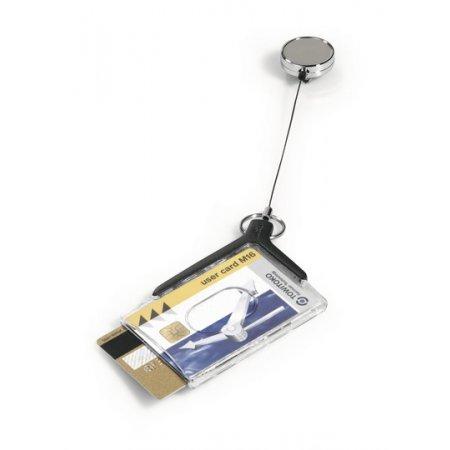 Pouzdro DURABLE DELUXE PRO DUO na magnetické karty, antracit, balení 10ks