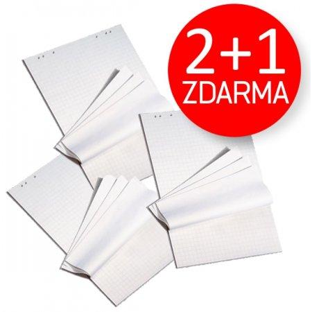 [2+1 ZDARMA] Blok pro flipchart rastrový 95x68cm, 25 listů, 70g/m2