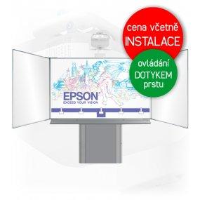 Dotyková interaktivní tabule EPSON EB-695Wi + Triptych 200x120cm na zvedacím stojanu
