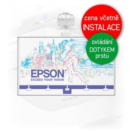 Dotyková interaktivní tabule EPSON EB-695Wi + Keramická tabule 200x120cm na stěnu