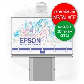 Dotyková interaktivní tabule EPSON EB-695Wi + Keramická tabule 200x120cm na zvedacím stojanu