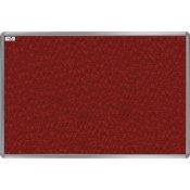 Textilní tabule EkoTAB, hliníkový rám, červená