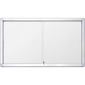 Vnitřní vitrína SlipTECH 18xA4, s posuvnými dvířky, magnetická
