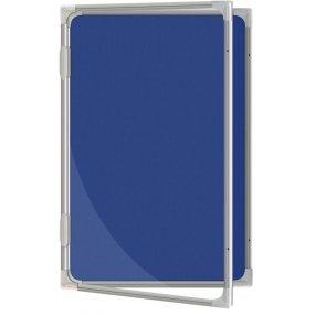Vitrína vnitřní CaseTECH 16xA4, 90x120cm, filcová