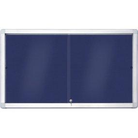 Vnitřní vitrína SlipTECH 18xA4, s posuvnými dvířky, textilní