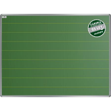 Školní tabule EkoTAB keramická, popis křídou, linky 100mm