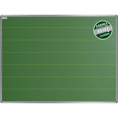 Školní tabule EkoTAB keramická, popis křídou, linky 120mm