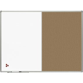 Kombinovaná tabule OfficeTECH lak/korek, hliníkový rám