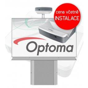 Interaktivní tabule Optoma W319USTir + Keramická tabule 200x120cm na stojanu zvedacím