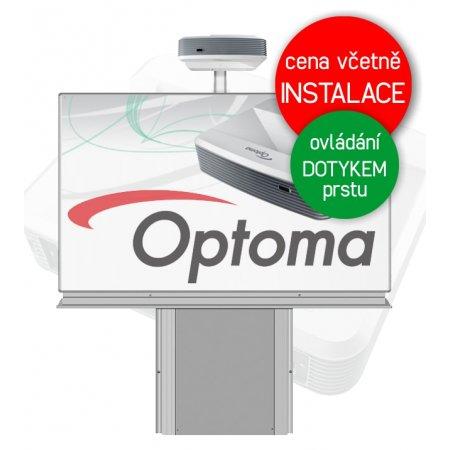 Dotyková interaktivní tabule Optoma W320USTi + Keramická tabule 200x120cm na stojanu zvedacím