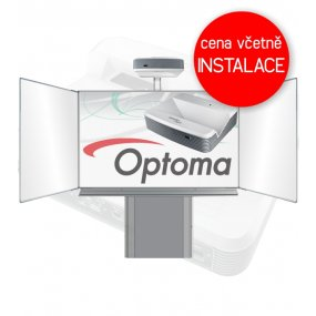 Interaktivní tabule Optoma W319USTir + Triptych 200x120cm na stojanu zvedacím