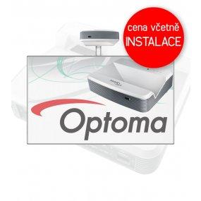 Interaktivní tabule Optoma W319USTir + Keramická tabule 200x120cm na stěnu