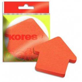 """Neonové bločky 70x70mm """"ARROW"""" tvar šipky - oranžové / 100 papírků v bločku"""
