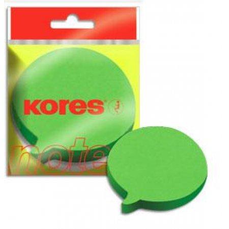 """Neonové bločky 70x70mm """"DIALOGUE"""" tvar bubliny - zelené /100 papírků v bločku"""